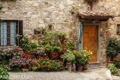 Doorway in Montefioralle